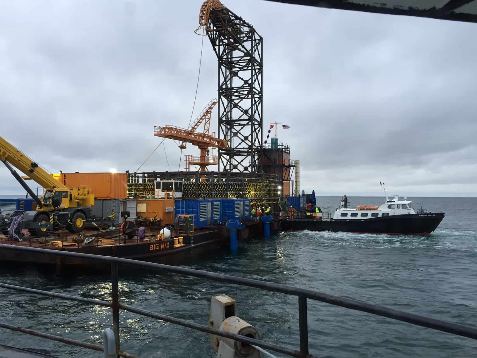Launch/Stores and Spares Crew Transfer To Cable Laying Barge