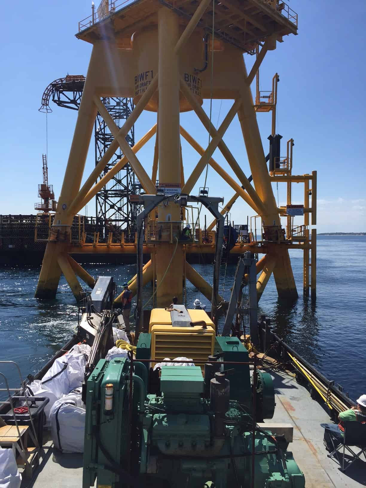 Providing Air to Cable Wind Farm Construction & Support with Miller Marine Services