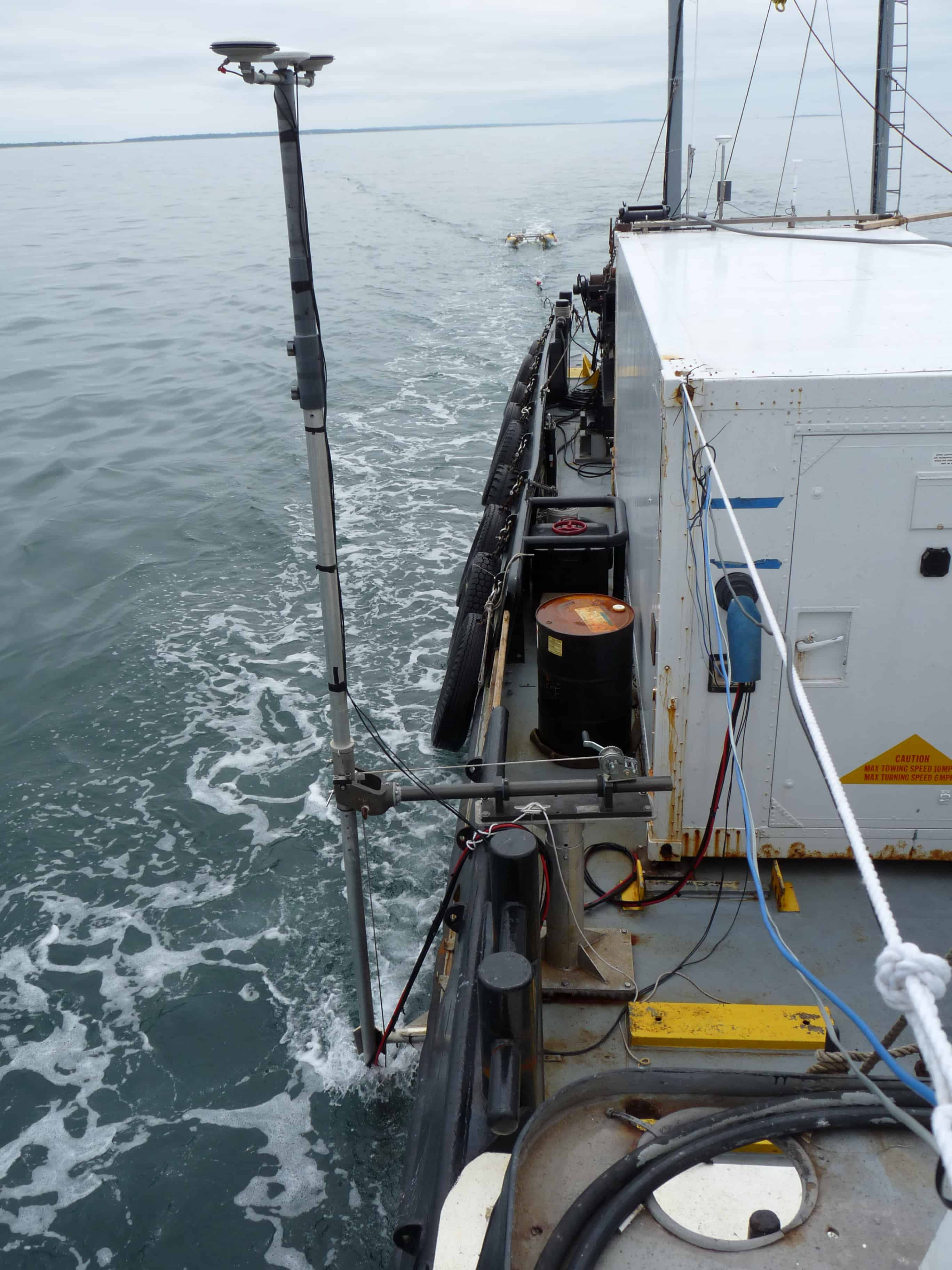Transducer Pole for Survey with Miller Marine Services